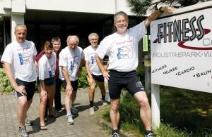 Treffpunkt Lauftreff: Mario Murawski (von Links), Kathrin Blauert, Rolf Blauert, Gerhardt Wiegand, Gerhard Schenk und Christoph Külzer-Schröder. Foto: Mario Zgoll