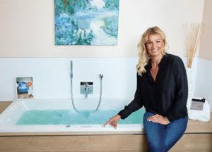 Franziska van Almsick: Geschäftsfrau, Schwimmerin und Badbotschafterin. Foto: Vereinigung Deutsche Sanitärwirtschaft (VDS)