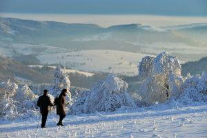 Eine Impression aus der Rhön im Winter. Foto: © Rhön Tourismus Service GmbH Landkreis Fulda