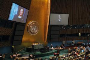 Am 30. März 2007 unterzeichnete Deutschland die UN-Behindertenrechtskonvention in New York. Foto: UN-Photo/Paulo Filgueiras
