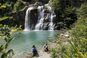 Der Piumogna-Wasserfall von Faido. Foto: © Ticino Turismo – Foto Loreta Daulte